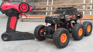 High Speed Off-Road Monster CAR 1/12 Scale 2.4GHz || Kids Play 6 Wheel RC Monster Tuck Unbox N Play