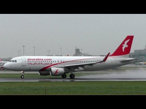 Air Arabia Airbus A320 Action at Dublin Airport