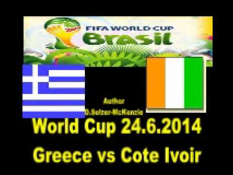 World Cup 24.6.2014 Greece vs Cote Ivoir