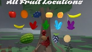 Roblox Treelands | All Fruit Locations