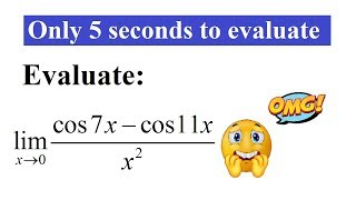 Esay trick to evaluate limits | Only in 5 seconds| JEE | IIT | CET | NDA | BITSAT | mathematicaATD