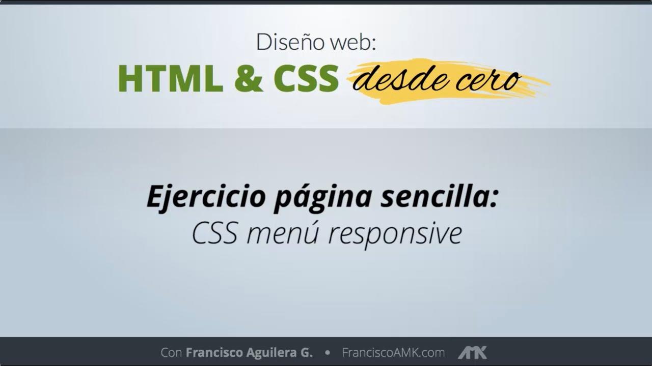 HTML y CSS Desde Cero – 26. Ejercicio Página Sencilla