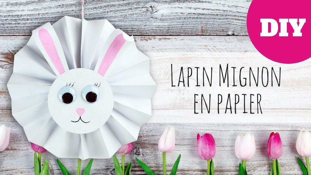 Bricolage de Pâques - Lapin mignon en papier (FACILE) - YouTube