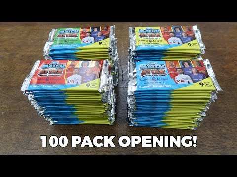 100 PACK OPENING! Match Attax 2017/18