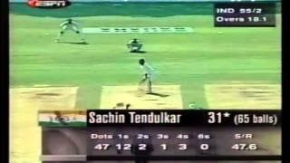 Sachin Tendulkar 77 vs Pak (5th Odi) Sahara Cup 1998