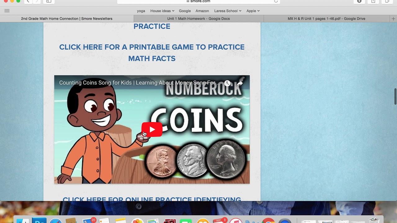 2nd Grade Math Homework Explination - YouTube