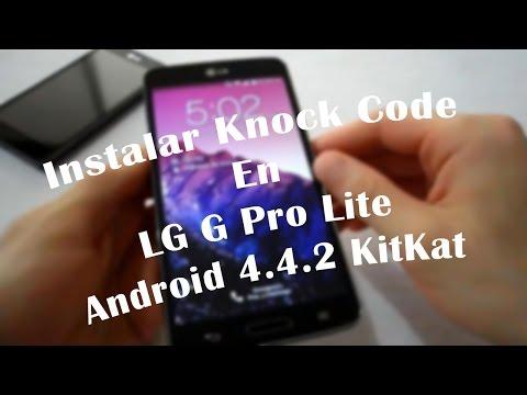 LG G Pro Lite Knock Code Android 4.4.2 KitKat