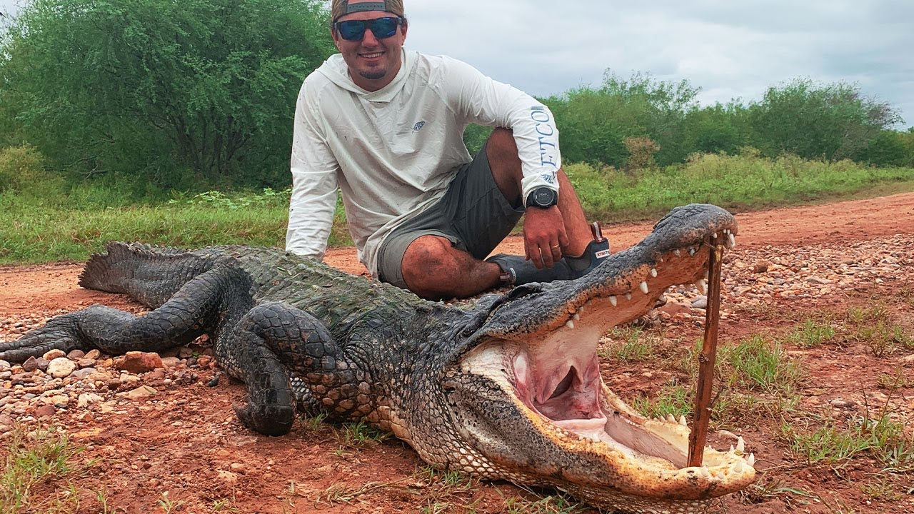 ALLIGATOR Hunting In TEXAS {Catch Clean Cook} Gator Balls