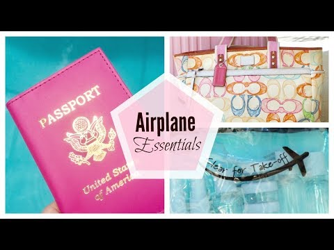 Airplane Travel Essentials | What's in my Carry-On Travel Bag |  Makeup, Toiletries, & More