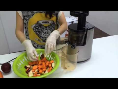 Slow Juicer Carrots : La Juiceria - Apple-Carrot-Turmeric juice recipe using the Hurom Slow Juicer HU-700 - YouTube