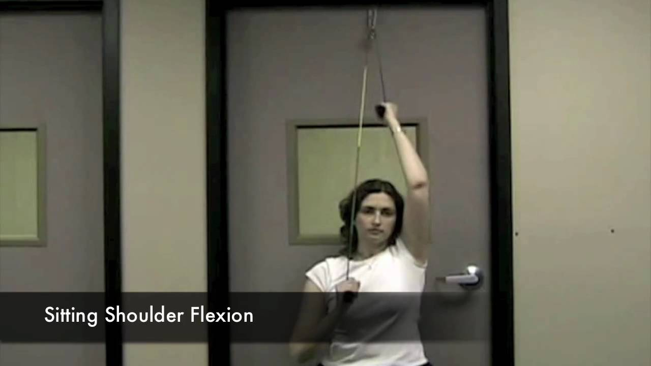 Thera Band Shoulder Pulley Exercises Demonstration   YouTube