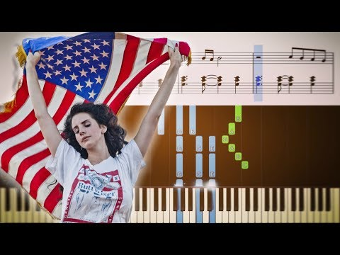 Lana Del Rey - Summertime Sadness - EASY Piano Tutorial + SHEETS