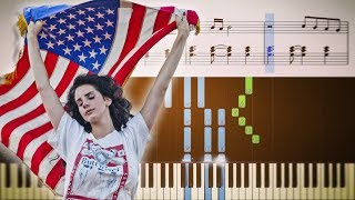 Download Lana Del Rey - Summertime Sadness - EASY Piano Tutorial + SHEETS Mp3 and Videos