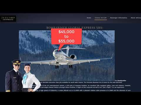 Phone call to JetCorp to Charter a Bombardier Global Express [FLAT EARTH]