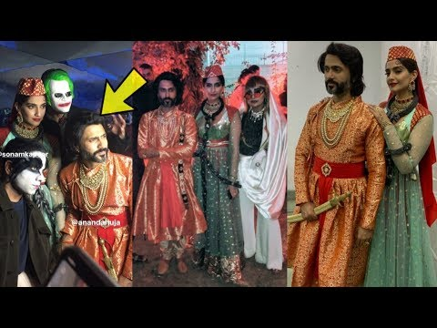 Sonam Kapoor and Anand Ahuja Stunn everyone with Anarkali and Salim look at Halloween Party Mp3