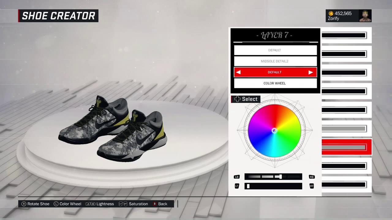 NBA 2K17 Shoe Creator - Nike Kobe 7