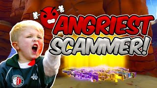ANGRIEST SCAMMER GETS SCAMMED IN FORTNITE SAVE THE WORLD PVE
