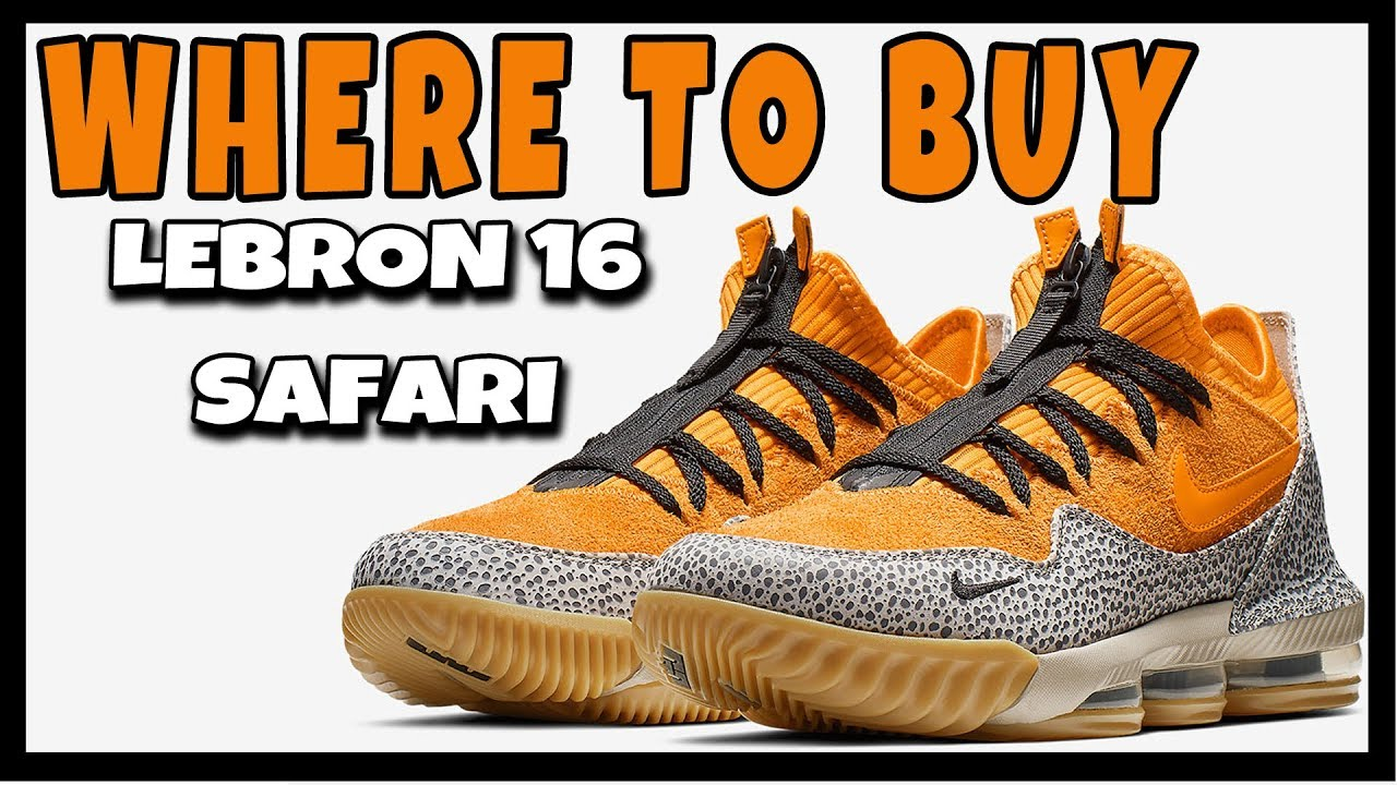info for 5aa6b 460f2 WHERE TO BUY NIKE LEBRON 16 LOW SAFARI   RESALE RESELL PREDICTIONS   HOW TO  COP
