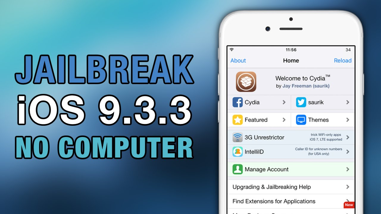 How To JAILBREAK iOS 9.3.3 NO COMPUTER! iPhone - iPad - iPod Touch