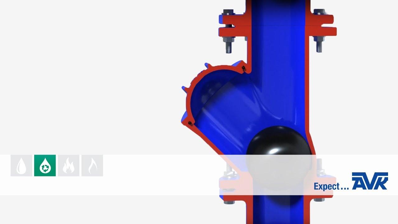 ball check valve animation from avk