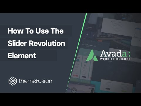 How To Use The Slider Revolution Element Video
