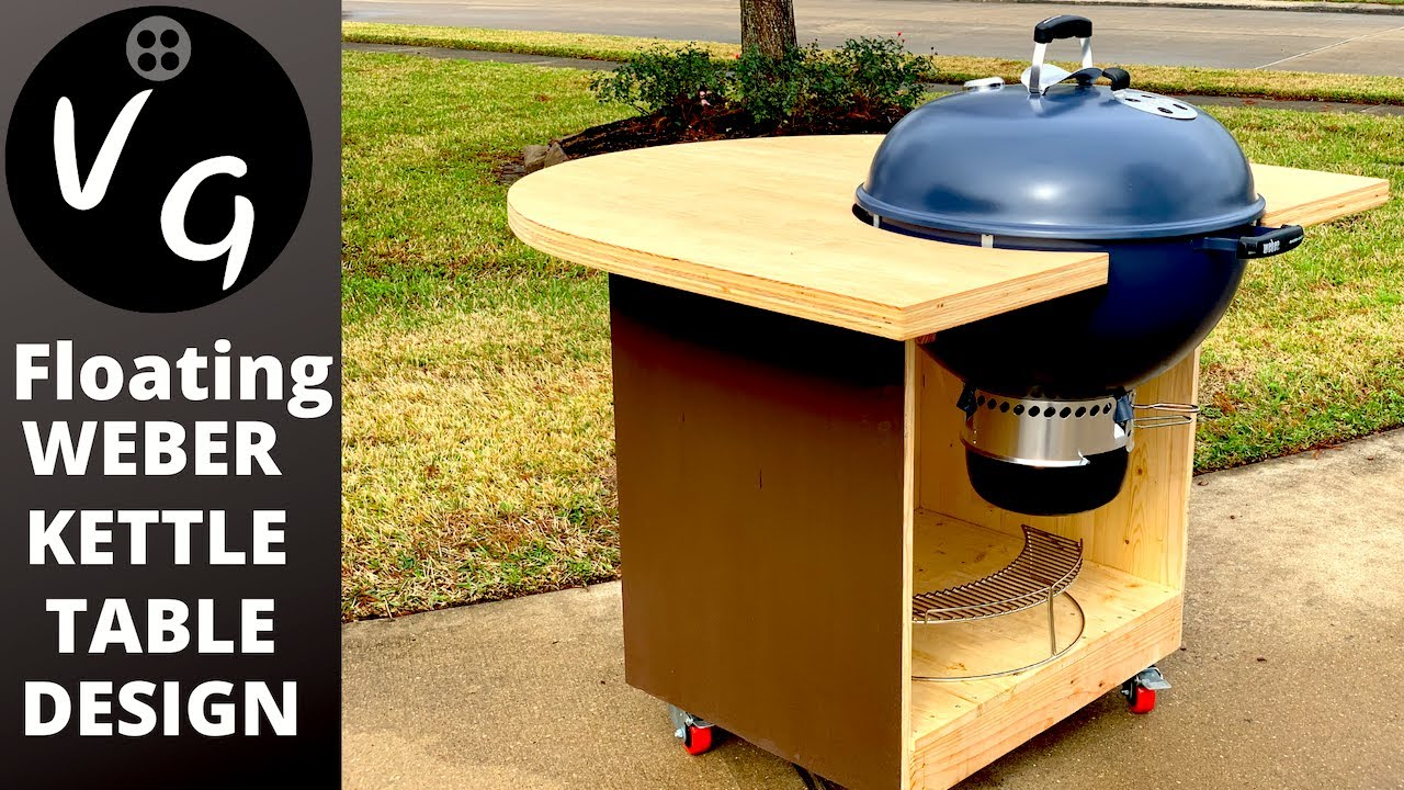 How To Build A 22 Weber Kettle Master Touch Bbq Cart Diy Bbq Table Floating Weber Kettle Design Youtube,Concrete Floors In Kitchen