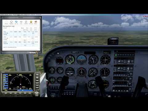 FSX | FSX Flight Basics | Cessna 172 VOR Flying, ILS Landing