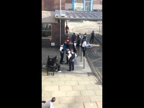 All kicking off at Newham general hospital
