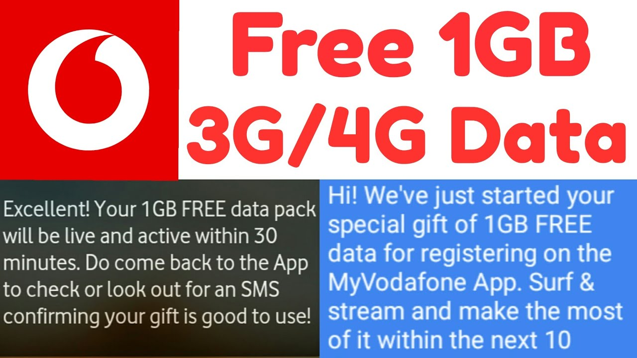 How To Get Free 1GB 3G/4G Data On Vodafone | No Spam
