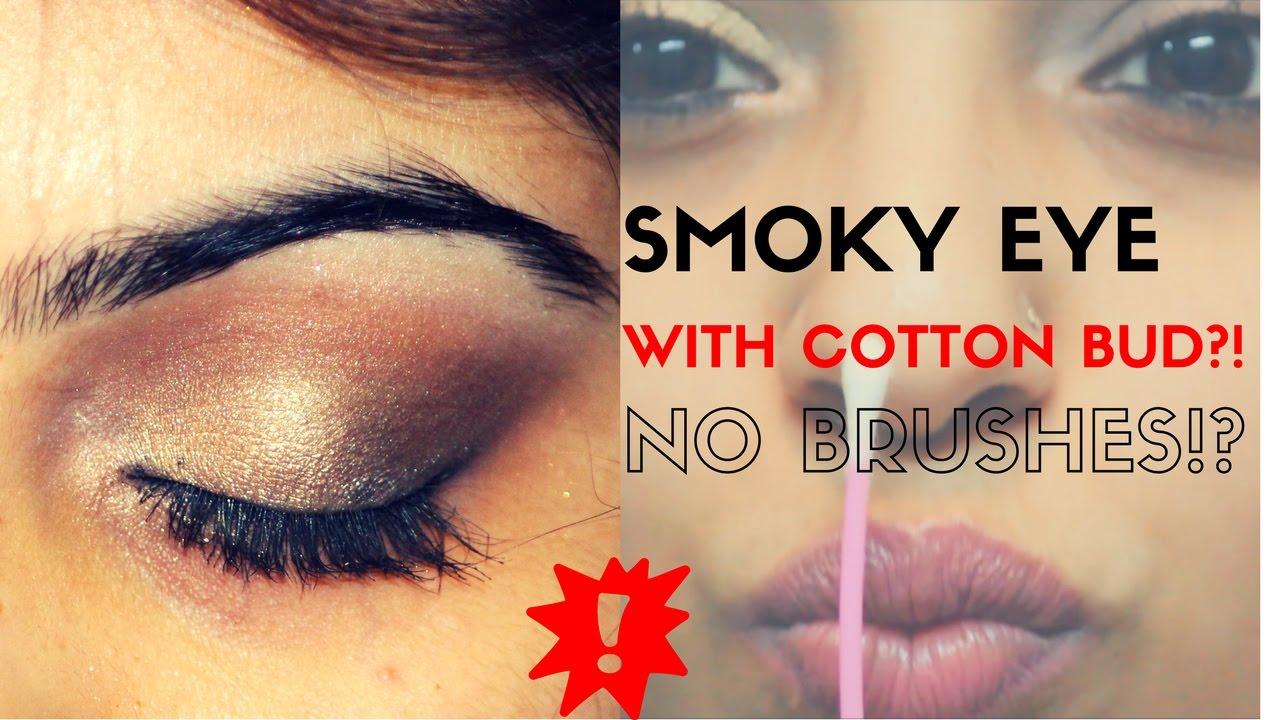 Smoky eye makeup using cotton budsq tips nobrushes step by smoky eye makeup using cotton budsq tips nobrushes step by step tutorial ccuart Image collections