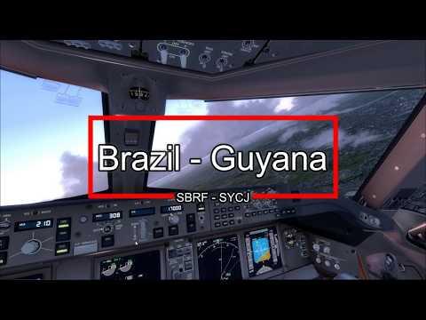 PMDG 77F - TNT Airways landing in Guyana (SYCJ)