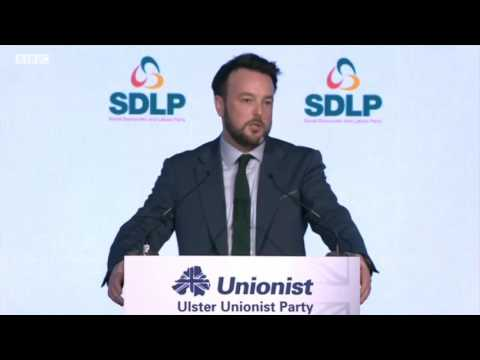 Colum Eastwood addresses UUP Conference 2016