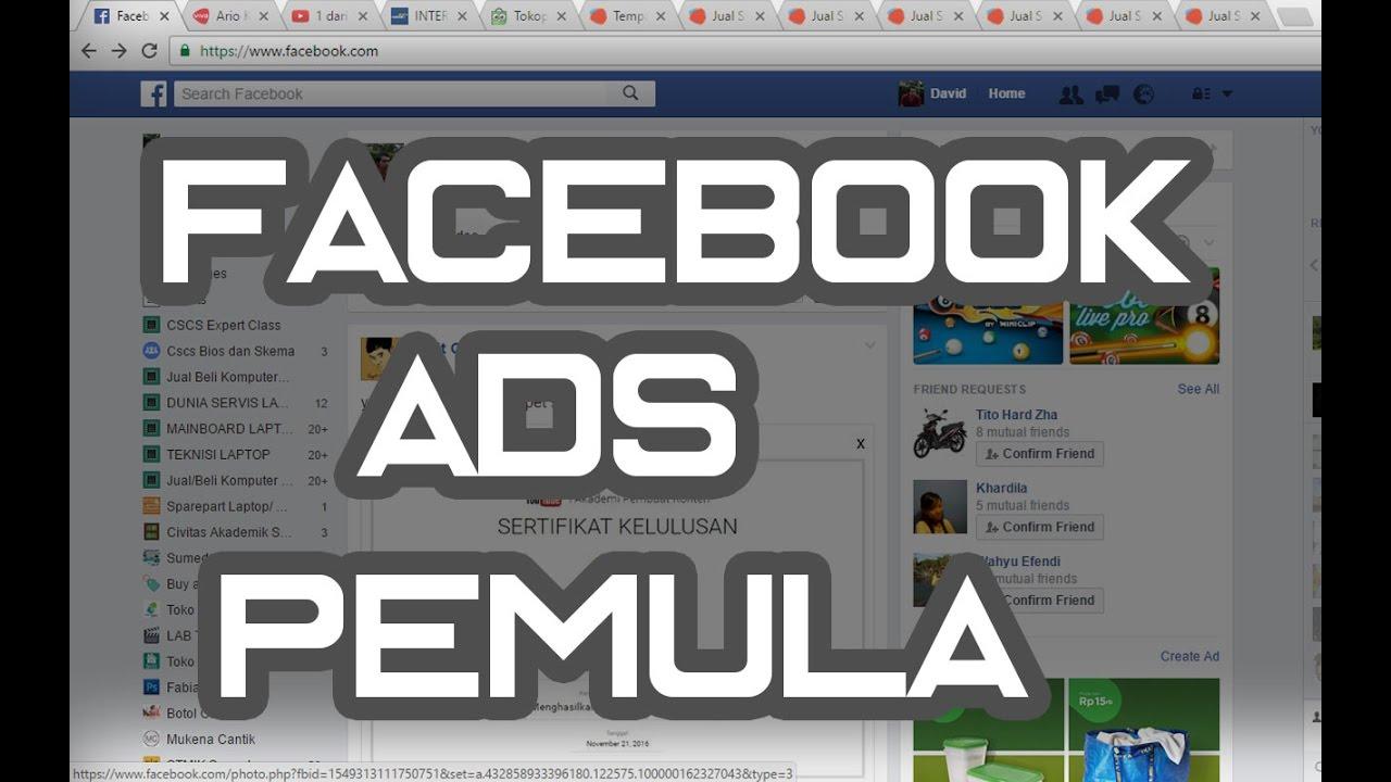 cara memasang iklan di facebook tutorial facebook ads pemula