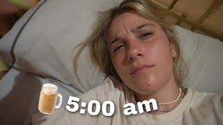 levantándome a las 5:00 de la mañana porque si