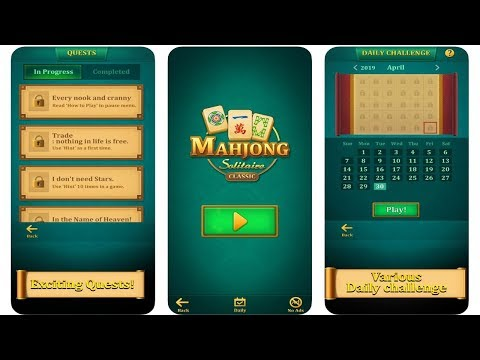 BITMANGO MAHJONG SOLITAIRE: CLASSIC (Android/iOS) Do You Enjoy Mahjong? How About Mahjong Solitaire