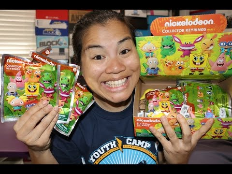 Nickelodeon Collector Keyrings Unboxing X7