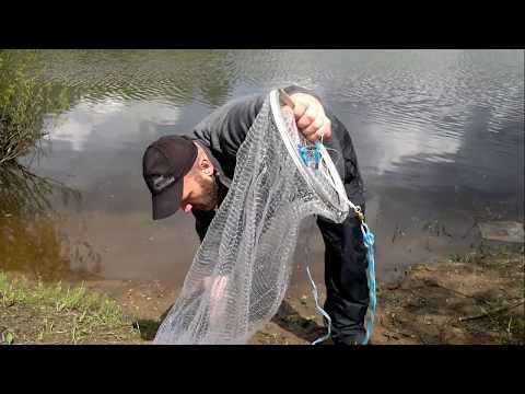 рыбалка кастинговой сетью с большим кольцом в россии видео