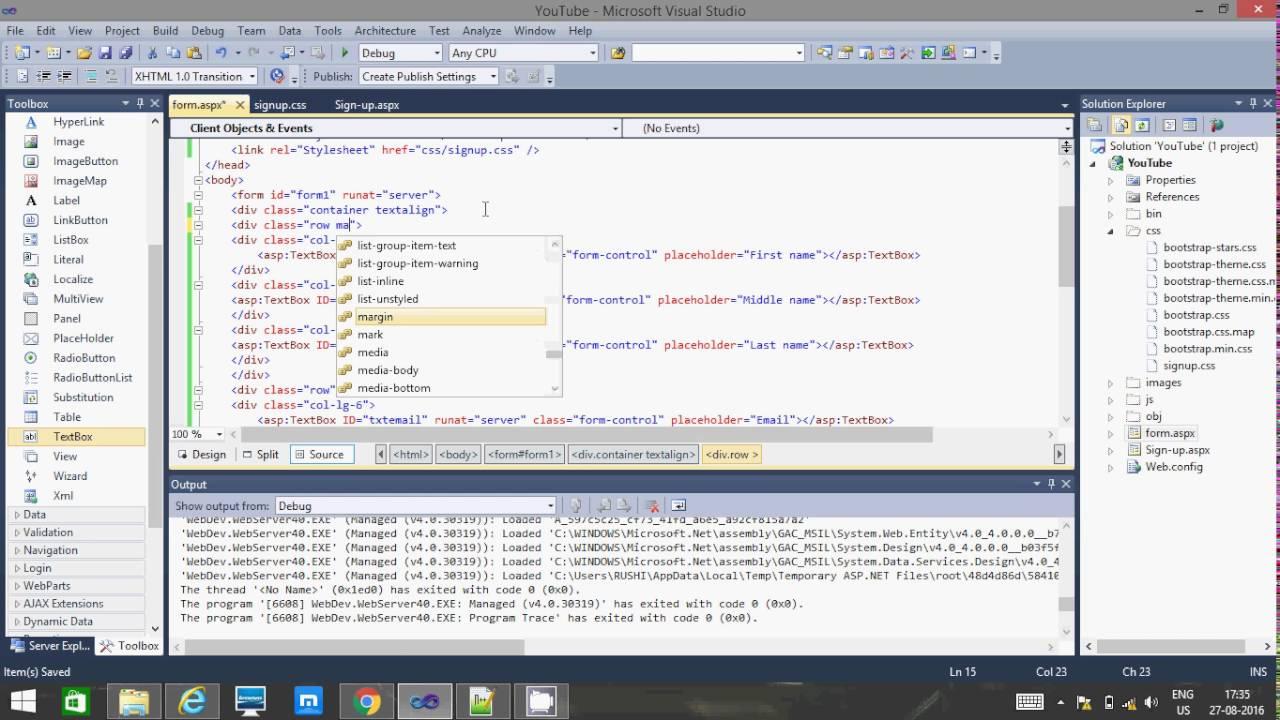 Asp responsive registration or signup form exampleusing c and net responsive registration or signup form exampleusing c and bootstrap falaconquin