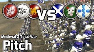 Medieval 2 Total War Online Battle #137 (3v3) - Power Shift!