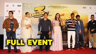 Dabangg 3 Trailer Launch | FULL VIDEO | Salman Khan | Sonakshi Sinha | Saiee Manjrekar