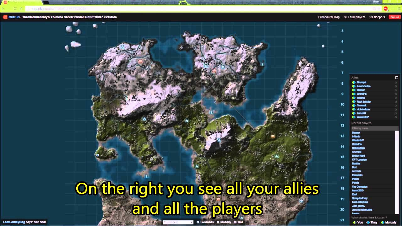 Howto Live Map On Rust Experimental By ChubbyB YouTube - Procedural map rust rusttopia us