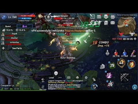 Lineage 2 Revolution Farming RSS & SoulCrystal  Live
