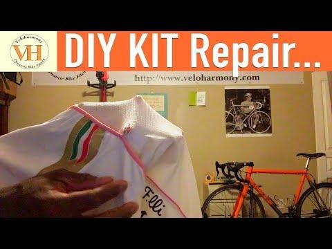 DIY Cycling Jersey Repair - reinforce jersey pockets