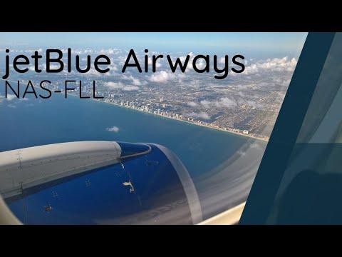 JetBlue Embraer E190 Full Flight - Nassau to Fort Lauderdale (JBU1894)
