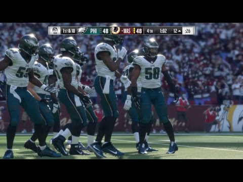 Madden 18 - Philadelphia Eagles vs Washington Redskins  - Full Game Simulation Nation