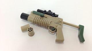 Just like real mini grenade launcher toy gun