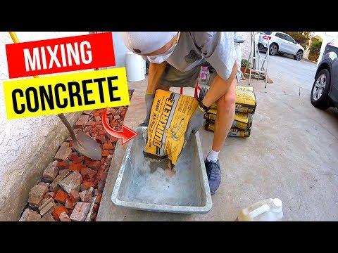 How To Properly Mix a Bag of Concrete -Jonny DIY