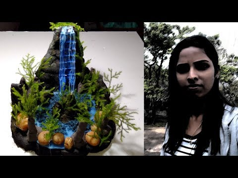 how-to-make-beautiful-waterfall-without-water-at-home-using-clay-and-glue-gun.-|-easy-diy-activity