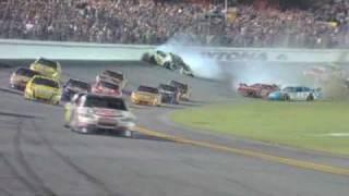2009 Coke Zero 400 - Tony Stewart Wins / Kyle Busch Hard Crash
