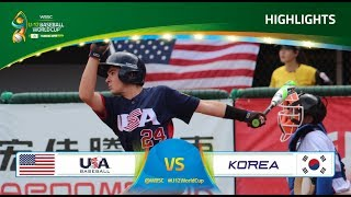 Highlights: USA v Korea  U-12 Baseball World Cup 2017